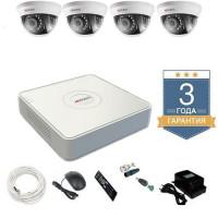 Комплект видеонаблюдения HD-TVI 4THHD2