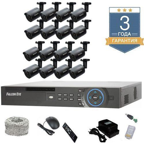 Комплект IP видеонаблюдения FULLHD на 16 камер 16UFULLHDF