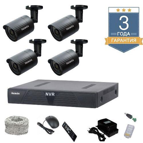 Комплект IP видеонаблюдения HD на 4 камеры для улицы 4UHDF