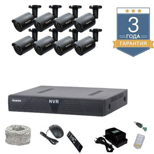 Комплект IP видеонаблюдения HD на 8 камер 8UHDF