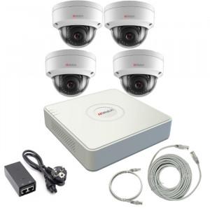 Комплект IP видеонаблюдения 4IPHFH2