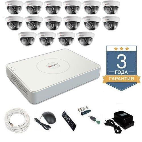 Комплект видеонаблюдения HD-TVI 16THHD2 на 16 камер