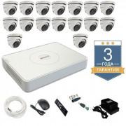 Комплект видеонаблюдения HD-TVI 16THHDU3