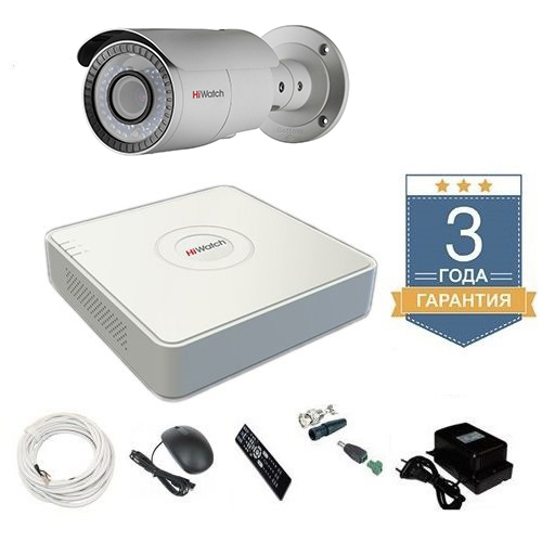 Комплект видеонаблюдения HD-TVI 1THFHDU8 на 1 камеру для дачи