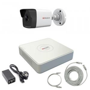Комплект IP видеонаблюдения 1IPHFH1