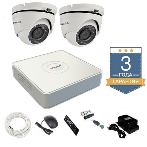 Комплект видеонаблюдения HD-TVI 2THFHDU5 на 2 камеры