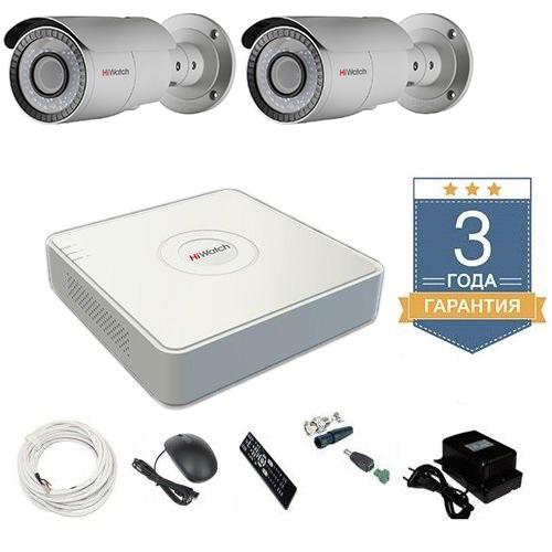 Комплект видеонаблюдения HD-TVI 2THHDU4 на 2 камеры