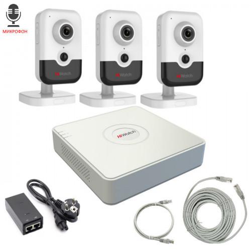 Комплект IP видеонаблюдения 3IPHFH3