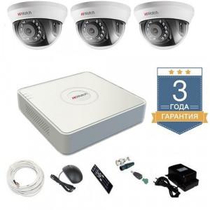 Комплект видеонаблюдения HD-TVI 3THFHD6