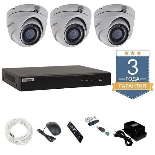 Комплект видеонаблюдения HD-TVI 3THFHDU10 на 3 камеры