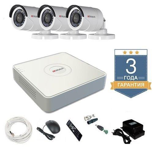 Комплект уличного видеонаблюдения HD-TVI 3THHDU1 на 3 камеры