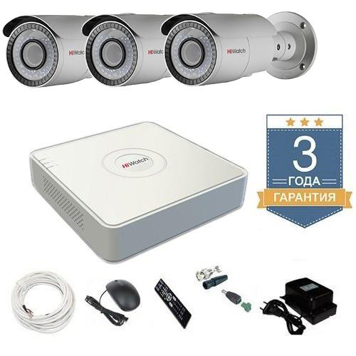Комплект видеонаблюдения HD-TVI 3THHDU4 на 3 камеры