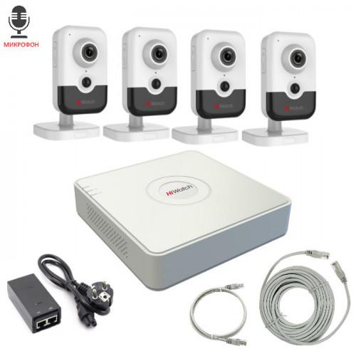 Комплект IP видеонаблюдения 4IPHFH3