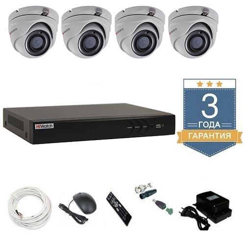 Комплект видеонаблюдения HD-TVI 4THFHDU10 на 4 камеры