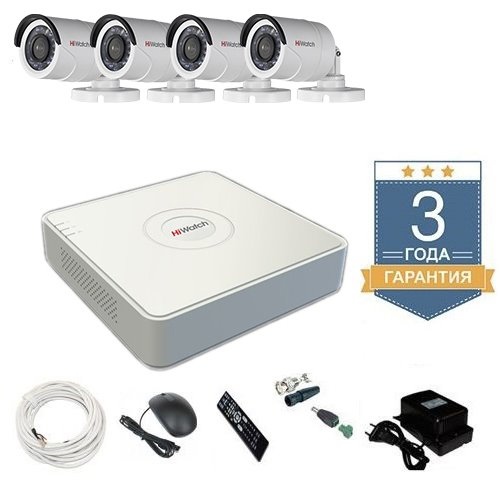 Комплект видеонаблюдения HD-TVI 4THFHDU7 на 4 камеры