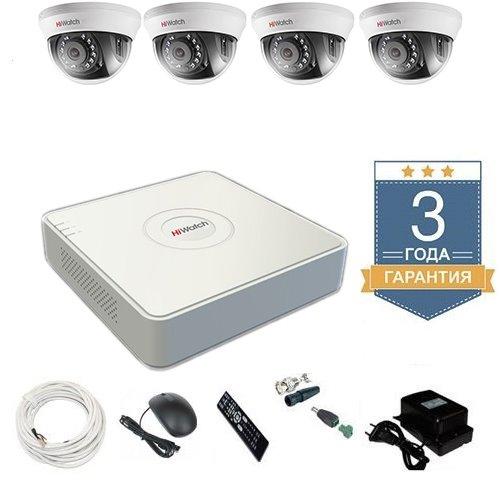 Комплект видеонаблюдения HD-TVI 4THHD2 на 4 камеры