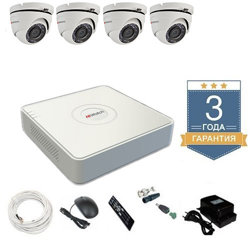 Комплект видеонаблюдения HD-TVI 4THHDU3 на 4 камеры