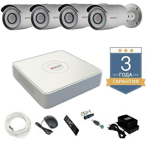 Комплект видеонаблюдения HD-TVI 4THHDU4 на 4 камеры для дачи