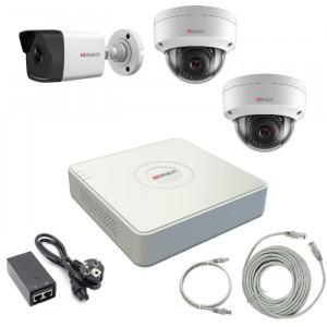 Комплект IP видеонаблюдения 3-1IPHFH4