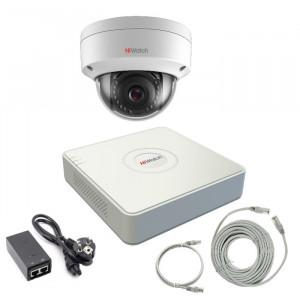 Комплект IP видеонаблюдения 1IPHFH2