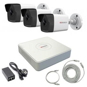 Комплект IP видеонаблюдения 3IPHFH1