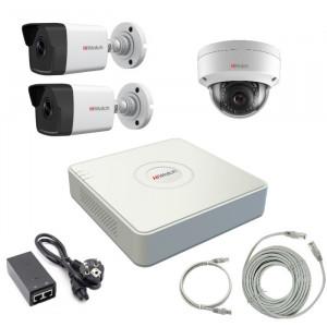 Комплект IP видеонаблюдения 3IPHFH4