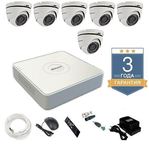 Комплект видеонаблюдения HD-TVI 6THFHDU5 на 6 камер