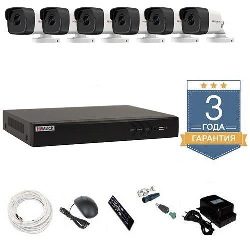 Комплект видеонаблюдения HD-TVI 6THFHDU9 на 6 камер