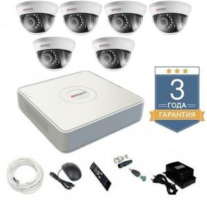 Комплект видеонаблюдения HD-TVI 6THHD2