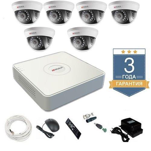 Комплект видеонаблюдения HD-TVI 6THHD2 на 6 камер