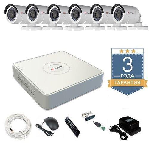 Комплект видеонаблюдения HD-TVI 6THHDU1 на 6 камер для дома
