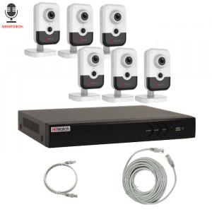 Комплект IP видеонаблюдения 6IPHFH3