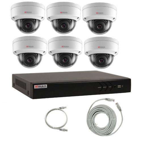 Комплект IP видеонаблюдения 6IPHFH2