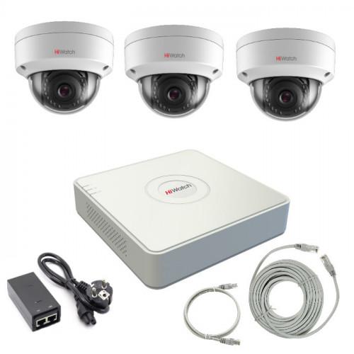 Комплект IP видеонаблюдения 3IPHFH2