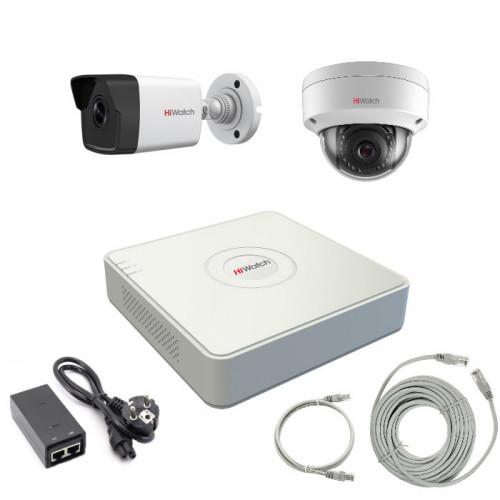 Комплект IP видеонаблюдения 2IPHFH4