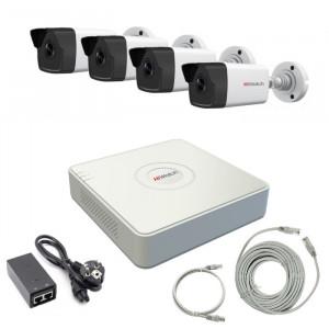 Комплект IP видеонаблюдения 4IPHFH1
