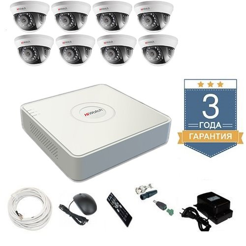 Комплект видеонаблюдения HD-TVI 8THFHD6 на 8 камер