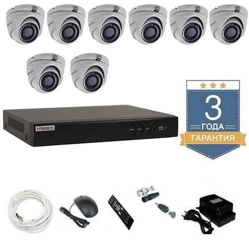 Комплект видеонаблюдения HD-TVI 8THFHDU10 на 8 камер