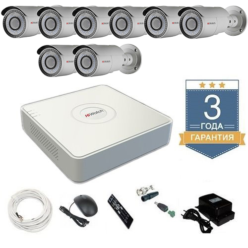 Комплект видеонаблюдения HD-TVI 8THFHDU8 на 8 камер