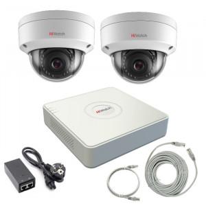 Комплект IP видеонаблюдения 2IPHFH2
