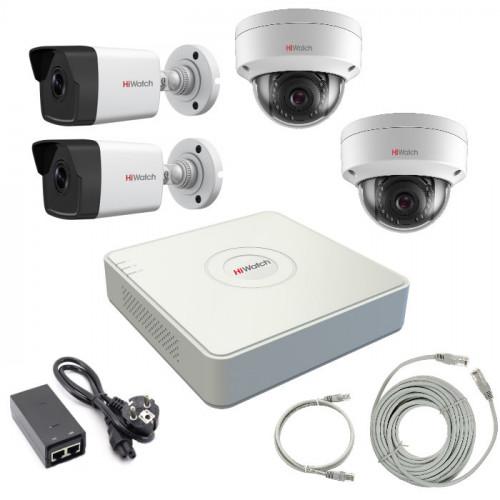 Комплект IP видеонаблюдения 4IPHFH4