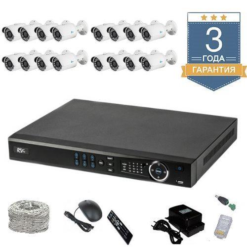 Комплект IP видеонаблюдения FULLHD на 16 камер для улицы 16UFULLHDR