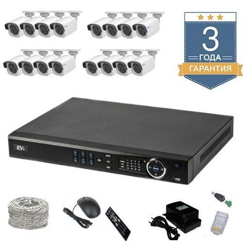 Комплект IP видеонаблюдения HD на 16 камер 16UHDR