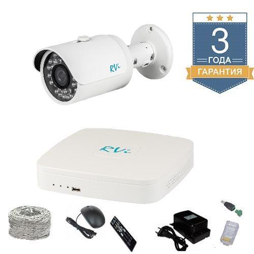 Комплект IP видеонаблюдения FULLHD на 1 камеру для улицы 1UFULLHDR