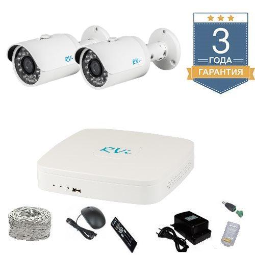 Комплект IP видеонаблюдения FULLHD на 2 камеры 2UFULLHDR