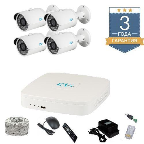 Комплект IP видеонаблюдения FULLHD на 4 камеры 4UFULLHDR
