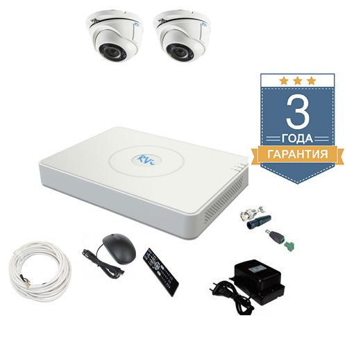 Комплект видеонаблюдения на 2 камеры TVI2FULLHD