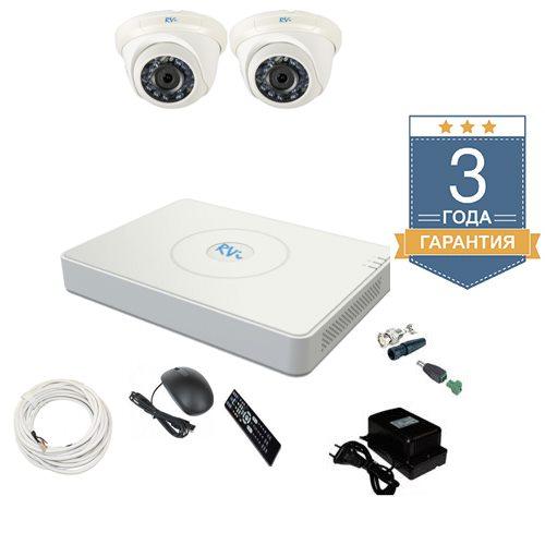 Комплект видеонаблюдения на 2 камеры TVI2HD