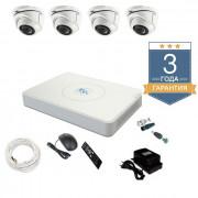 Комплект видеонаблюдения на 4 камеры TVI4FULLHD