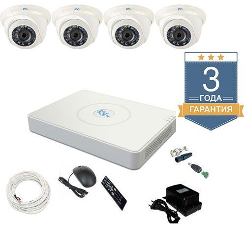 Комплект видеонаблюдения на 4 камеры TVI4HD